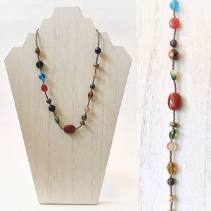 Lia Sophia Multicolored Glass Beaded Necklace